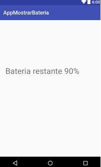 Como mostrar el nivel de batería en un textview en android