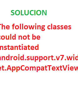 Solución: The following classes could not be instantiated