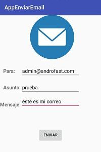 Simple formulario email en android