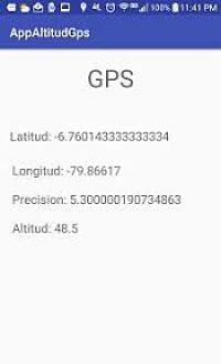 Como obtener la altitud latitud y logintud del gps