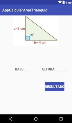 Como calcular el área de un triangulo en android studio