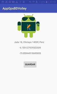 Android: Guardar coordenadas en mysql con volley
